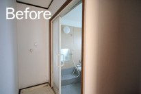 菊川市/脇屋リセット住宅洗面所Before