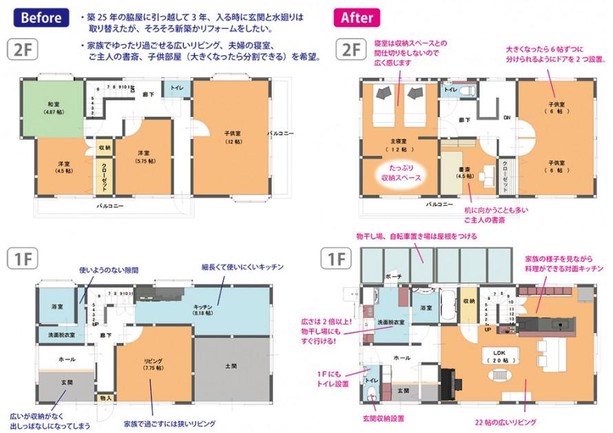 リセット住宅図面BeforeAfter