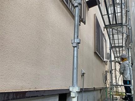 菊川市/外壁塗装前の高圧洗浄
