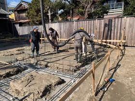 牧之原市新築木のひらや 基礎工事