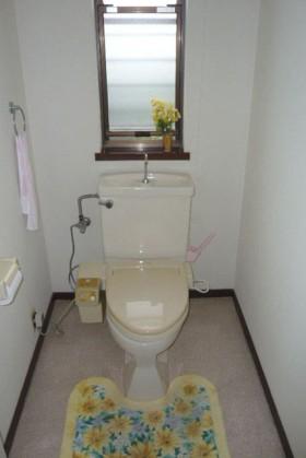 長年使った古いトイレ