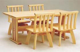 ひのき2本脚テーブル